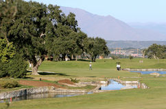 People playing golf in Spain Royalty Free Stock Photos