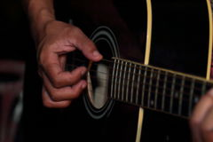 People playing guitar in Thailand. Royalty Free Stock Photography