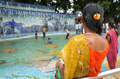People playing in Lumbini Park, Hyderabad Royalty Free Stock Images