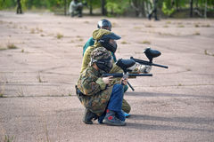 People playing paintball Stock Photography