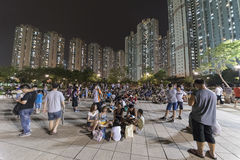 People playing Pokemon in Park Stock Images