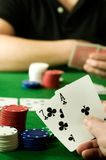 People Playing Poker Stock Photo