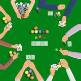 People playing in poker Royalty Free Stock Images