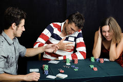 People playing poker Royalty Free Stock Image