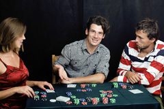 People playing poker Royalty Free Stock Images