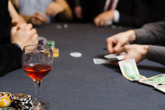 People playing poker Royalty Free Stock Photography
