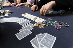 People playing poker Royalty Free Stock Photo