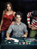 People playing poker Stock Image