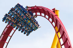 People playing roller coaster Stock Photography