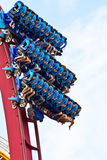 People playing roller coaster Royalty Free Stock Photos