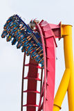 People playing roller coaster Royalty Free Stock Images