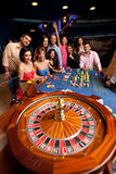 People playing roulette Stock Images
