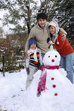 People playing snowman Stock Photo
