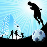 People playing soccer Royalty Free Stock Photos