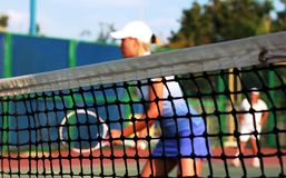People Playing Tennis Royalty Free Stock Photos