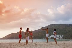 People playing volleyball royalty free stock image