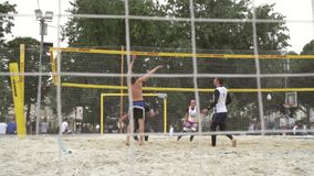 People Playing Volleyball stock video footage