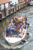 People on a pleasure boat Royalty Free Stock Photos