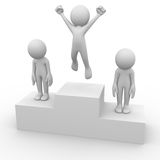 People on a podium Royalty Free Stock Photo
