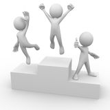 People on podium Stock Images