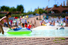 People in a pool Royalty Free Stock Photo