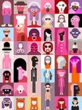 People pop-art vector design Stock Image