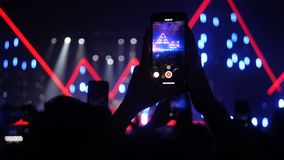 Rock concert social network smartphone mobile phones fan