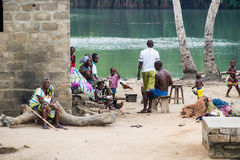 People in PORTO-NOVO, BENIN Royalty Free Stock Images