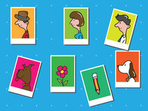 People in postcard frames Royalty Free Stock Images