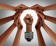 People Power Team Working Together Royalty Free Illustration
