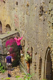 People Practice At A Climbing Training Royalty Free Stock Photo