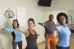 People Practicing Stretching Exercise Stock Images