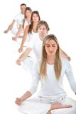 People practicing yoga Royalty Free Stock Photo