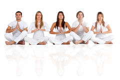 People practicing yoga Royalty Free Stock Images
