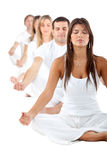 People practicing yoga Stock Photography