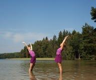 People practicing yoga Stock Photography