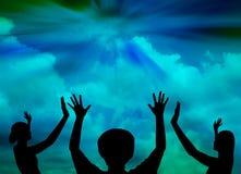 Praising God. People praise the lord.Worship royalty free illustration