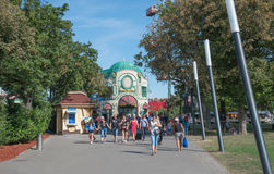 People in Prater park - Vienna, Austria Royalty Free Stock Photography