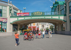 People in Prater park - Vienna, Austria Royalty Free Stock Images