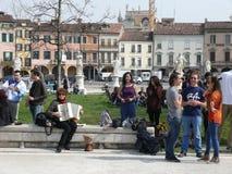 People in Prato della Valle, Padova (Padua), Italy Stock Photo