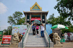 People pray angel statue at Phra Kal Shrine Stock Images