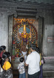 People pray in hindu temple Royalty Free Stock Photography