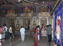 People pray in hindu temple Stock Photos