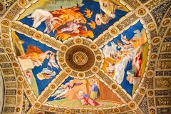 Roof painting inside Vatican Basilic Royalty Free Stock Images
