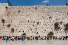 People pray at the western wall, Jerusalem Royalty Free Stock Image