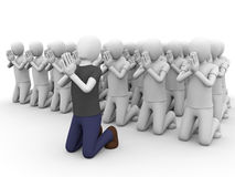People praying. A big group of people praying together Royalty Free Stock Images