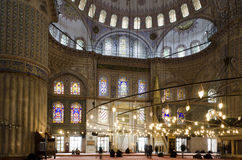 People praying in Blue Mosque Stock Images
