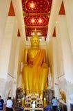 People praying with buddha statue Royalty Free Stock Photos