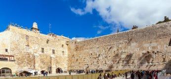 People praying near Western Wall of Temple, Jerusalem Stock Image