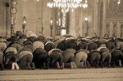 People praying at Suleymaniye Mosque Stock Photography